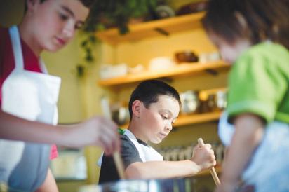 Kids stirring