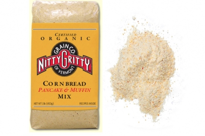 cornmeal, pancake mix,  muffin mix, nutty gritty grain company