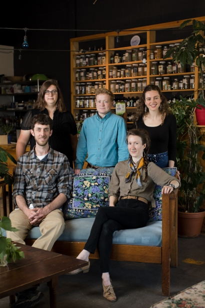 The trained herbalist team at Railyard Apothecary in Burlington, Vermont.