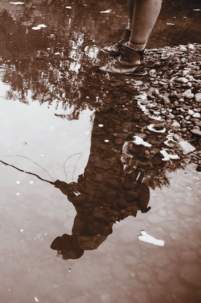 Reflection on the water