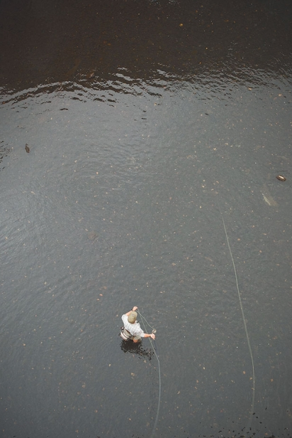Aerial view of fisherman