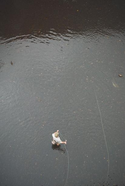 Aerial view of fisherman