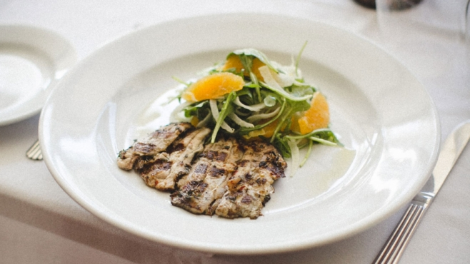 Grilled Sardines with Fennel, Arugula and Blood Oranges