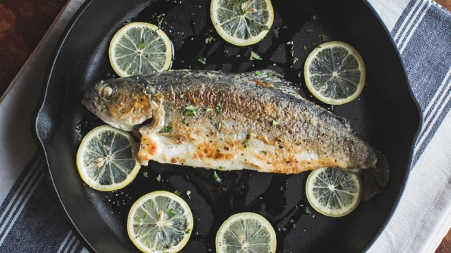 Cast-Iron Skillet Fried Trout with Herbs